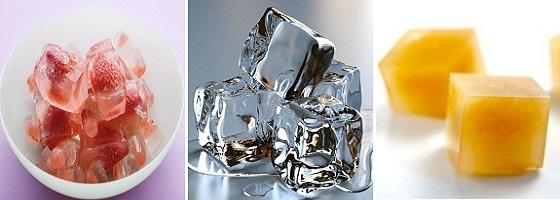 Умывание кубиками льда