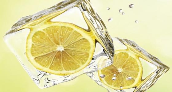 Лед для лица с лимоном